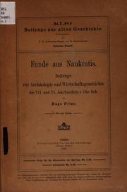 Funde aus Naukratis : Beitrage zur Archaologie und Wirtschaftsgeschichte des 7. und 6. Jahrhunderts vor Christus ... mit 4 Tafeln