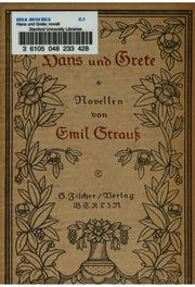 Hans und Grete microform : Novellen