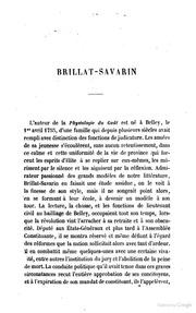 Physiologie du goût, ou méditations de gastronomie transcendante : Ouvrage théorique, historique et à l-ordre du jour, .̤ par Brillat-Savarin