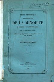Étude historique sur la durée et les effets de la minorité en droit romain et dans l-ancien droit français,... par Jacques Flach,..