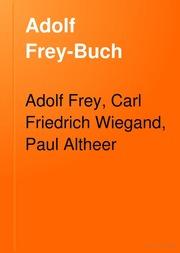 Adolf Frey-Buch
