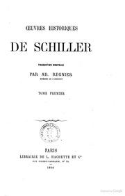 Oeuvres de Schiller Oeuvres historiques de Schiller. Tome premier. 5