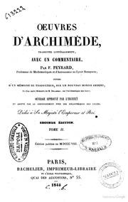 Oeuvres d-Archimède, traduites littéralement, avec un commentaire par F. Peyrard,... Tome 2