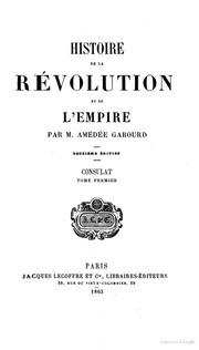 Histoire de la révolution et de l-empire