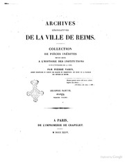 archives administratives de la ville de reims collection de pieces inedites pouvant servir a l. Black Bedroom Furniture Sets. Home Design Ideas
