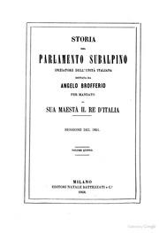 Storia del parlamento subalpino iniziatore dell 39 unit for Storia del parlamento italiano