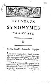 Synonymes français; par l-abbé Roubaud. Tome premier quatriéme