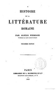 Histoire de la littérature romaine par Alexis Pierron