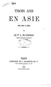 Essay joseph arthur comte de gobineau