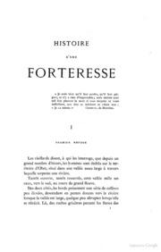 Histoire d-une forteresse texte et dessins par Violletleduc