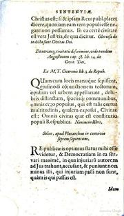 francisci patricii senensis de institutione