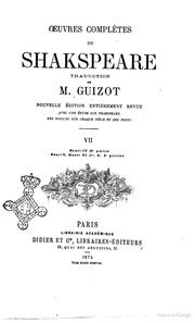 Oeuvres complètes de Shakspeare avec une étude sur Shakspeare des notices sur chaque piéce et des notes traduction de M. Guizot Henri IV 2. partie