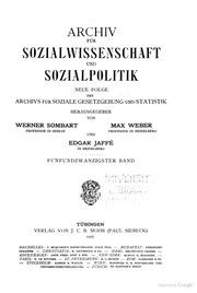 Archiv für Sozialwissenschaft und Sozialpolitik