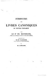 Introduction historique et critique aux livres du Nouveau Testament par Reithmayr, Hug, Tholuck, etc