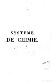 Systeme de chimie de m. Th. Thomson, professeur a l-universite d-Edimbourg; traduit de l-anglais sur la derniere edition de 1807; par m. Jn. Riffault; precede d-une introduction de M.C.L. Berthollet, membre de l-institut. Tome p