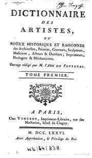 Dictionnaire des artistes ou notice historique et for Dictionnaire des architectes