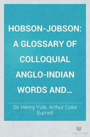 hobson jobson dictionary free download