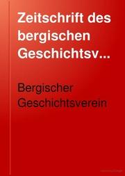 Zeitschrift Des Bergischen Geschichtsverein Free