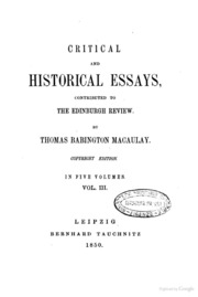 essays thomas macaulay Macaulay essays - opt for the service, and our experienced writers will accomplish your order flawlessly if you want to find out how to write a amazing essay, you.