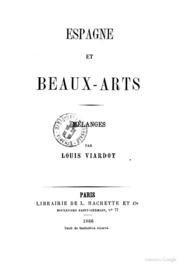 Espagne et beauxarts mélanges par Louis Viardot