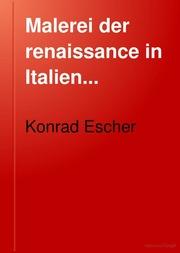 Malerei der renaissance in Italien..