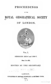 proceedings of the royal geographical society of london royal geographical society great. Black Bedroom Furniture Sets. Home Design Ideas