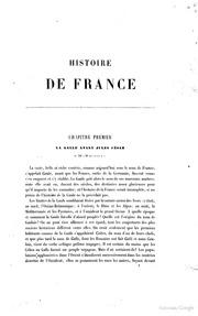Histoire de France par Ed. Mennechet