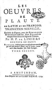 Les Oeuvres De Plaute En Latin Et En Francois. Amsterdam 1719. 1st Edition.