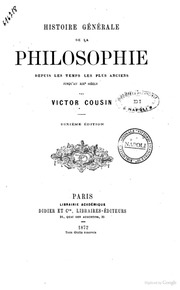 Histoire Generale De La Philosophie