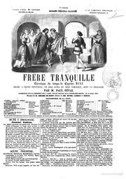 Frere Tranquille cronique du temps de Charles 8. par M.Paul Feval