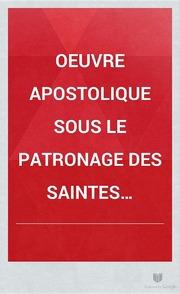 Oeuvre apostolique sous le patronage des saintes femmes de l-Evangile compterendu de l-année 18621863