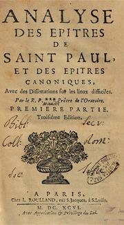 epitres de saint paul pdf