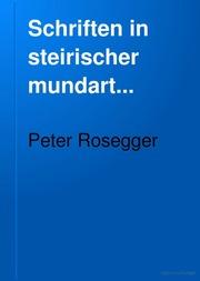 Schriften in steirischer mundart..