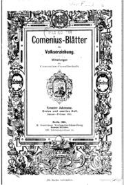 Comenius-Blätter für Volkserziehung