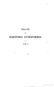 Traite des ecritures cuneiformes par le Cte De Gobineau