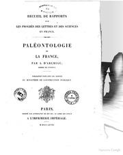 Paleontologie de la France par A. D-Archiac