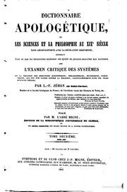 Encyclopedie Theologique; 48-49. Dictionnaire Des Sciences Occultes. T. 2: Ma-Zu