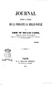 Journal écrit a bord de la frégate La BellePoule par Emm.el B.on de Las Cases
