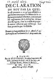 an analysis of the edicts of nantes The crown, the huguenots, and the edict of nantes has compared the edict of nantes with the edicts of for an analysis of the cahiers topic by topic.