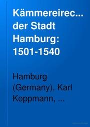 Der Stadt Hamburg kämmereirechnungen der stadt hamburg hamburg germany kämmerei
