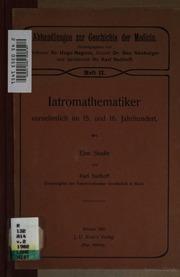 Abhandlungen zur Geschichte der Medicin