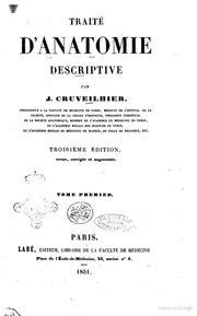 Traite d-anatomie descriptive par J. Cruveilhier