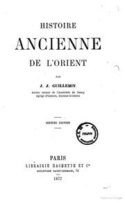Histoire ancienne de l-Orient par J. J. Guillemin