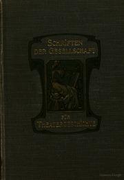 Archiv für theatergeschichte im auftrage der Gesellschaft für theatergeschichte herausgegeben von Hans Devrient. Mit dem Jahresbericht der Gesellschaft für theatergeschichte
