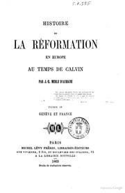 Histoire de la Reformation en Europe au temps de Calvin par J. H. Merle d-Aubigne 2 Genève et France