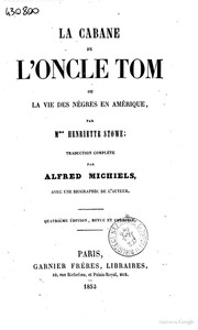 La case de l 39 oncle tom par madame h beecher stowe - Case de l oncle tom guirlande ...