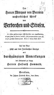 an essay on crimes and punishments translated from the italian of  des herren marquis von beccaria unsterbliches werk von verbrechen und strafen