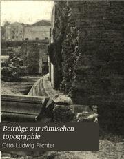 Beiträge zur römischen topographie