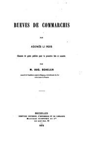 Bueves de Commarchis par Adenés li Rois
