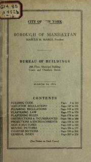 Building code of the city of new york as amended to june 1 1929 building code city of new york borough of manhattan bureau of buildings fandeluxe Gallery